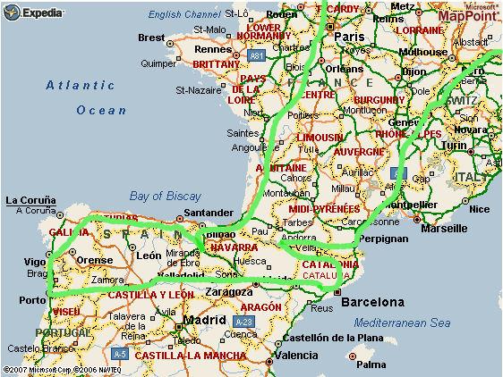 Heloohaloo 25 Elegant Kaart Van Frankrijk En Spanje